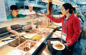 Горячие обеды в 4-х зонах олимпийской столовой Лондона, питание спортсменов и их примерное меню