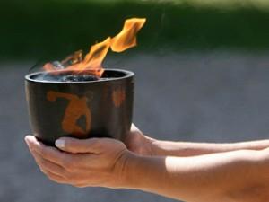 Эсафета Олимпийского огня в России перед Олимпиадой в Сочи