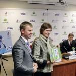 Олимпийские чемпионы поддерживают Сбербанк России