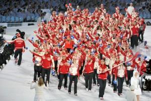 Несколько частей церемонии открытия Олимпиады в Сочи 2014, ведущие- герои русских сказок