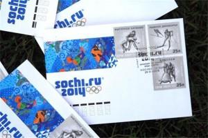 Олимпийские почтовые марки и почтовые блоки с символикой Сочи 2014
